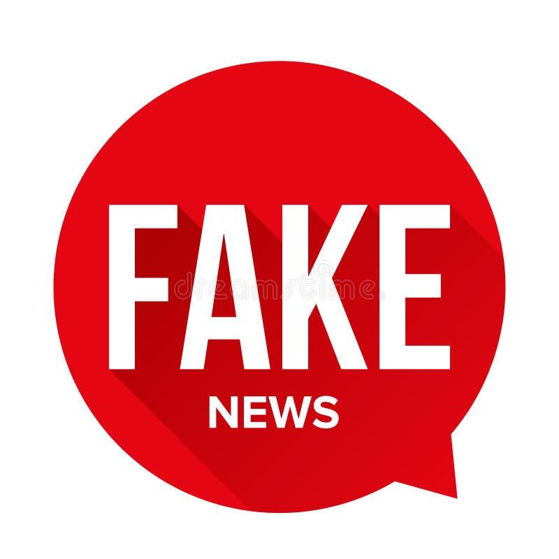 Bolha falsificada do discurso do sinal de aviso da notícia ilustração stock