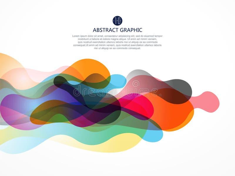 A bolha gosta do projeto gráfico abstrato ilustração royalty free