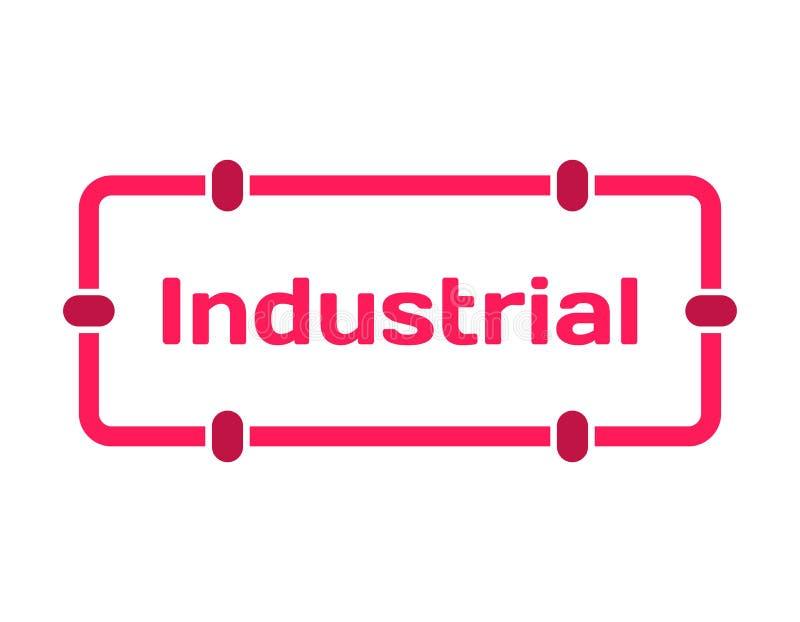 Bolha industrial do diálogo do molde no estilo liso no branco Carimbe no ícone dos trilhos para a vária palavra do lote Vetor ilustração do vetor