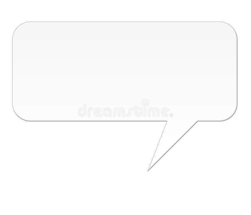 Bolha isolada do discurso ilustração stock