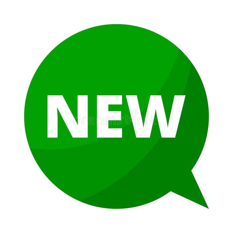 Bolha nova, verde do discurso ilustração royalty free