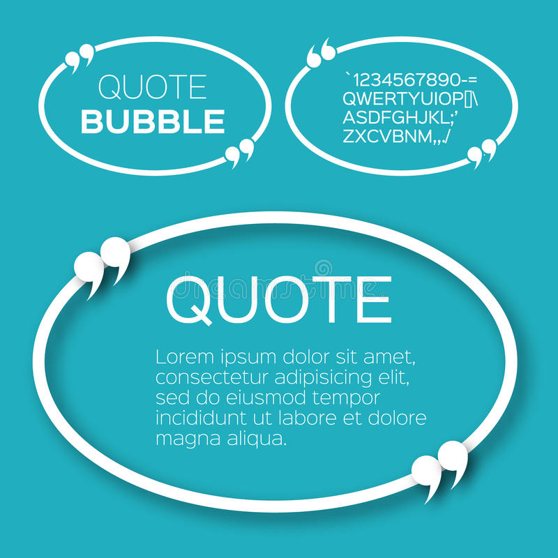Bolha oval das citações ilustração do vetor
