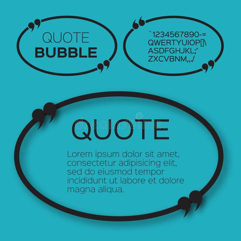 Bolha oval das citações ilustração royalty free