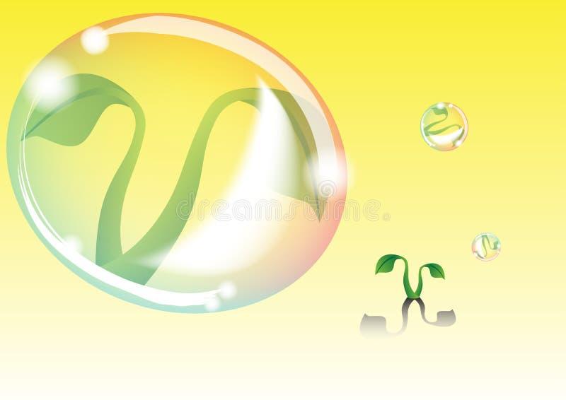 A bolha protege a planta imagens de stock royalty free