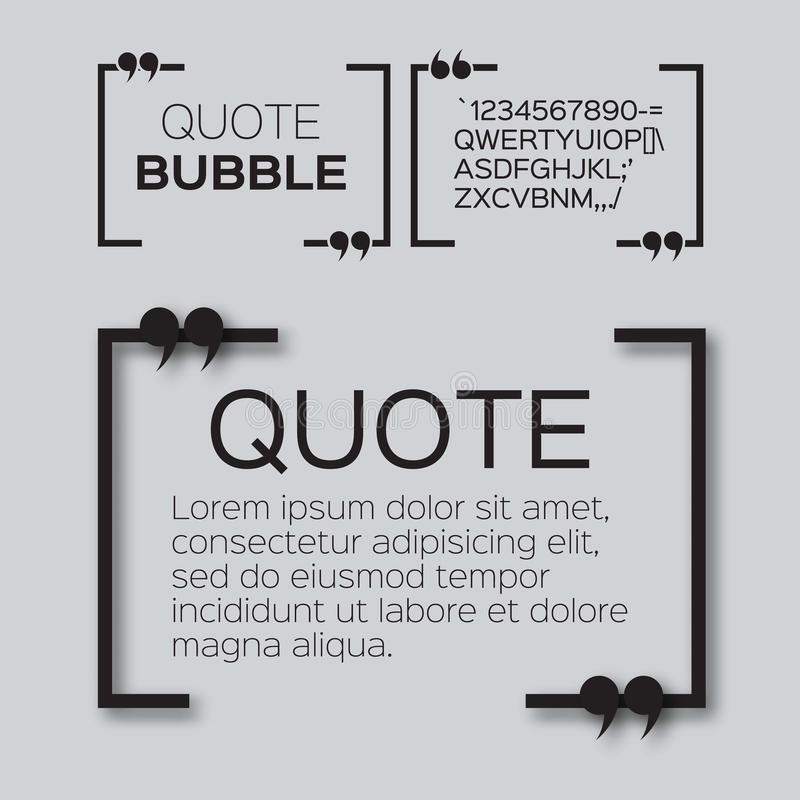 Bolha quadrada das citações ilustração do vetor