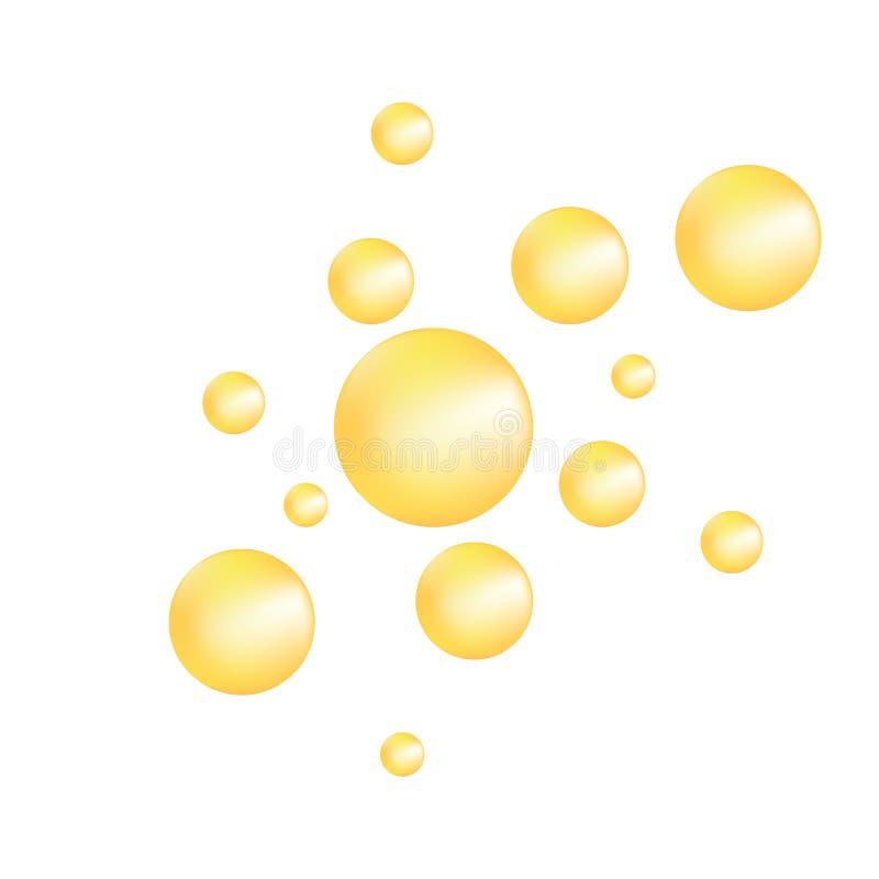 Bolha realística do óleo EPS10 ilustração royalty free