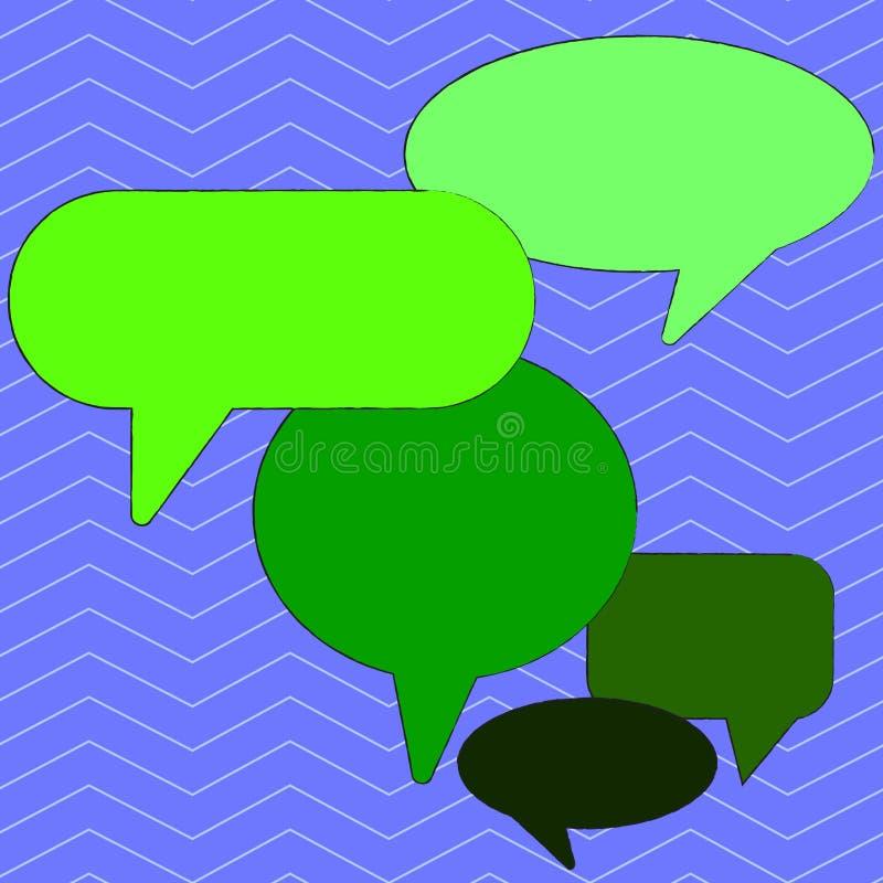Bolha vazia colorida do discurso de muitas formas diferentes Balão do texto em vários tamanhos e em máscaras Ideia criativa do fu ilustração stock