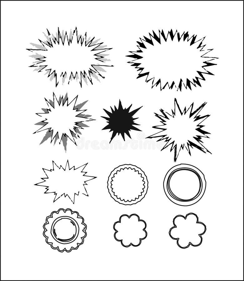 Bolhas 3 do Callout-Discurso ilustração stock