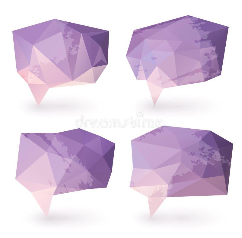 Bolhas abstratas do discurso do triângulo ilustração do vetor