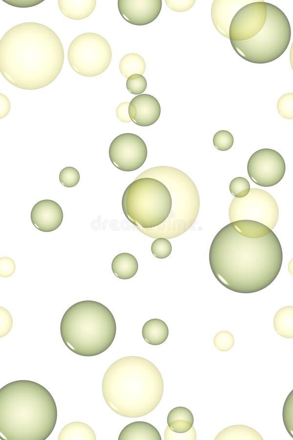 Bolhas amarelas e verdes ilustração stock