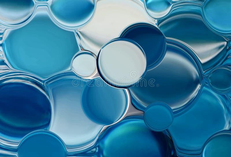 Bolhas azuis ilustração royalty free