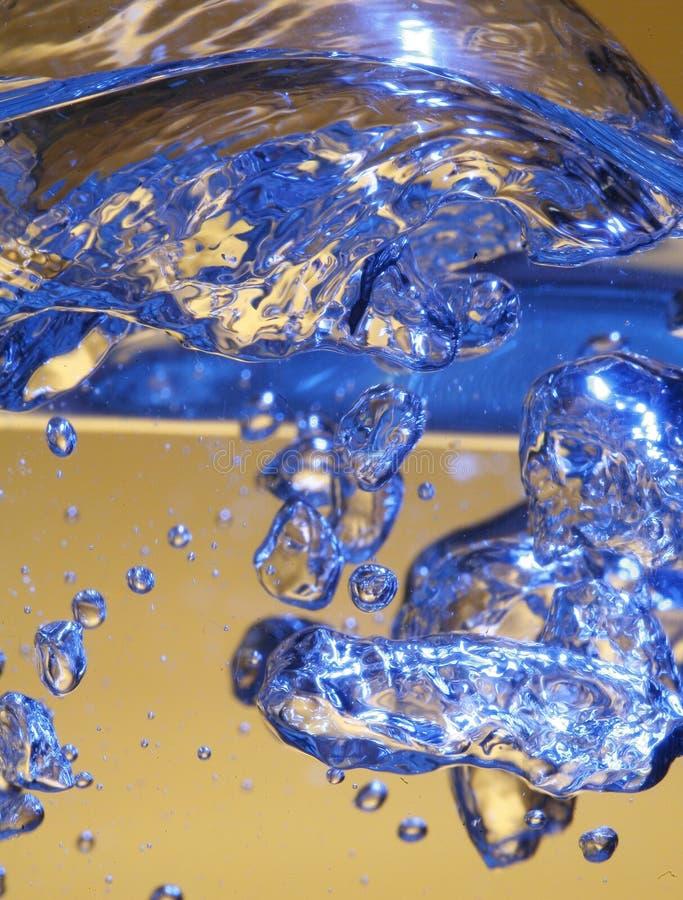 Bolhas azuis imagem de stock