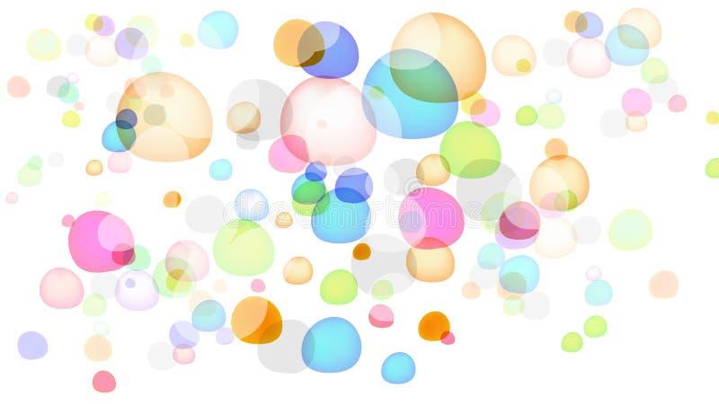Bolhas coloridas ilustração royalty free