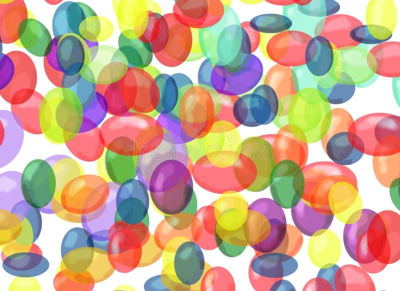 Bolhas coloridas ilustração stock