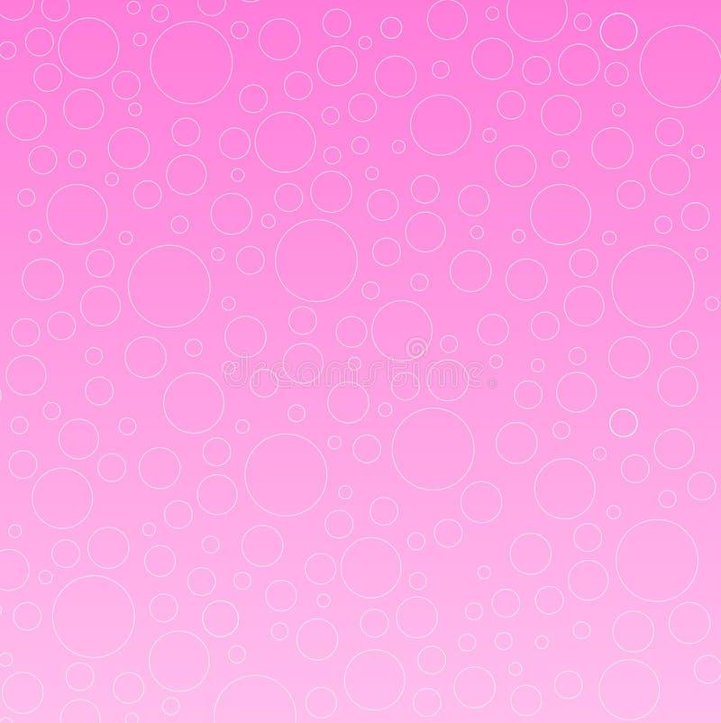 Bolhas cor-de-rosa ilustração stock