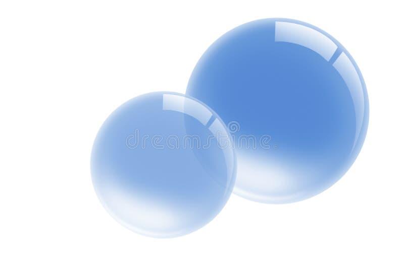 Bolhas da água ilustração stock