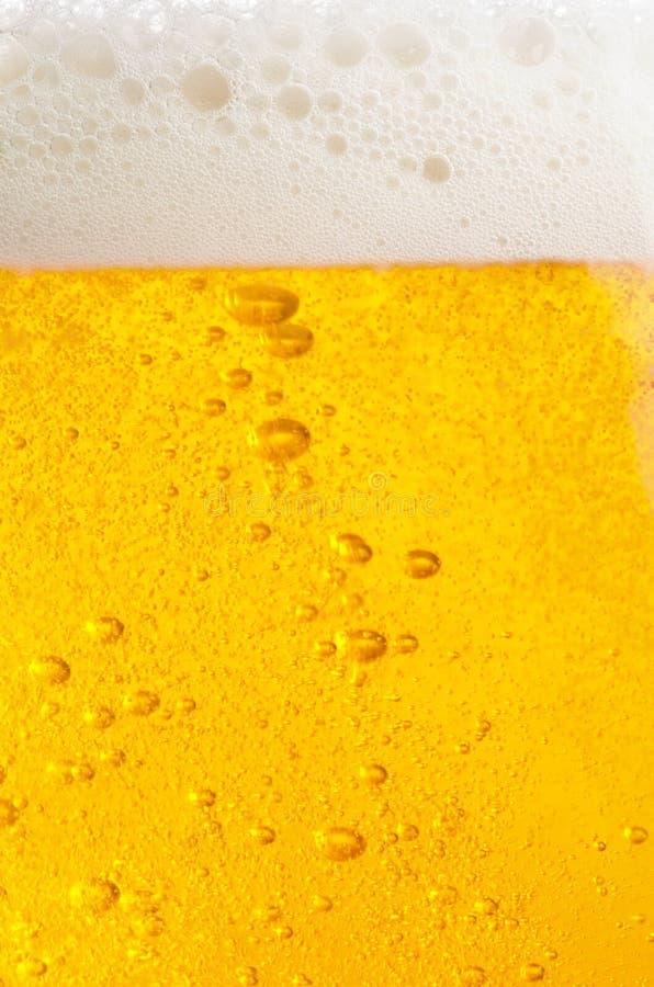 Bolhas da cerveja foto de stock