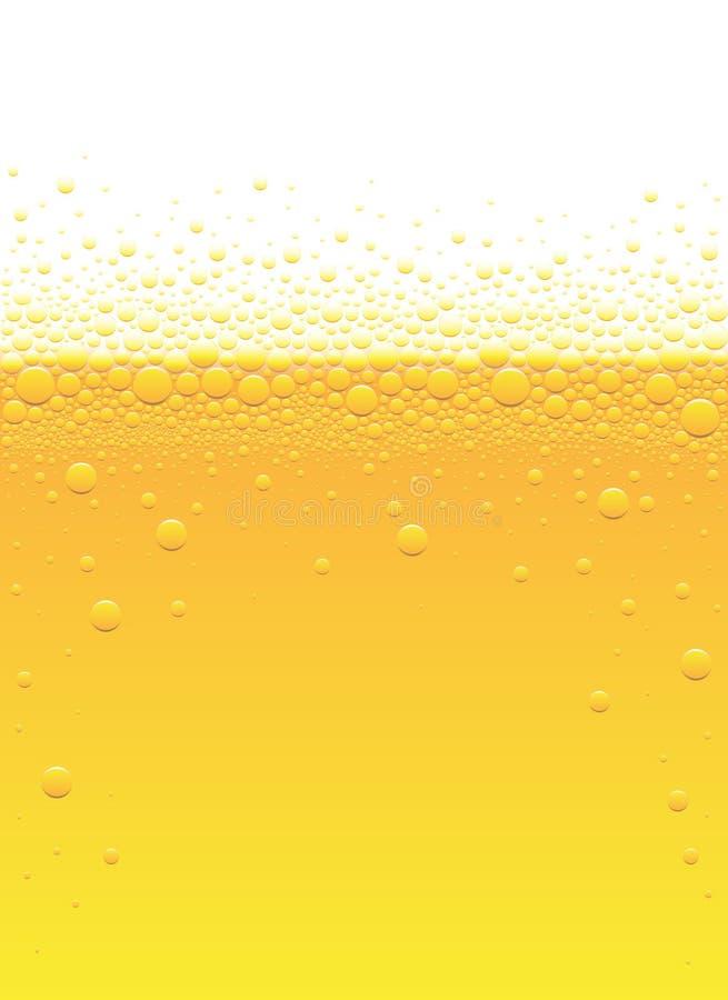 Bolhas da cerveja ilustração royalty free