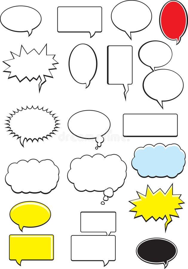 Bolhas da palavra ilustração do vetor