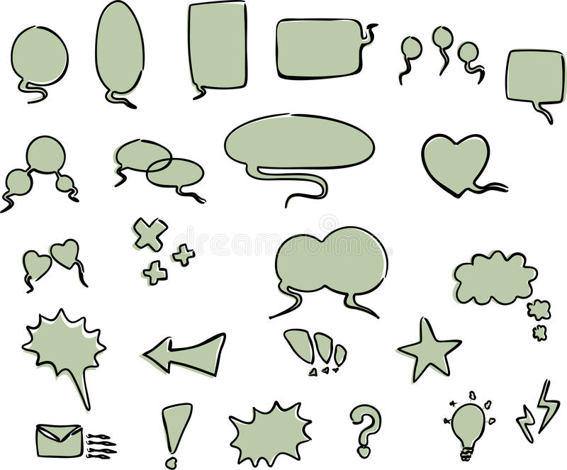 Bolhas da palavra ilustração stock