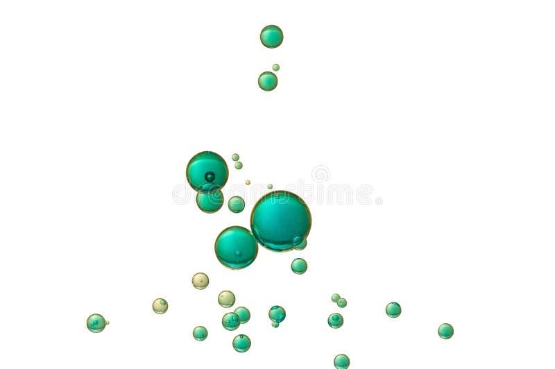 Bolhas de ar azul ilustração royalty free