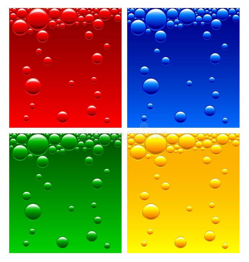 Bolhas de ar no líquido ilustração stock