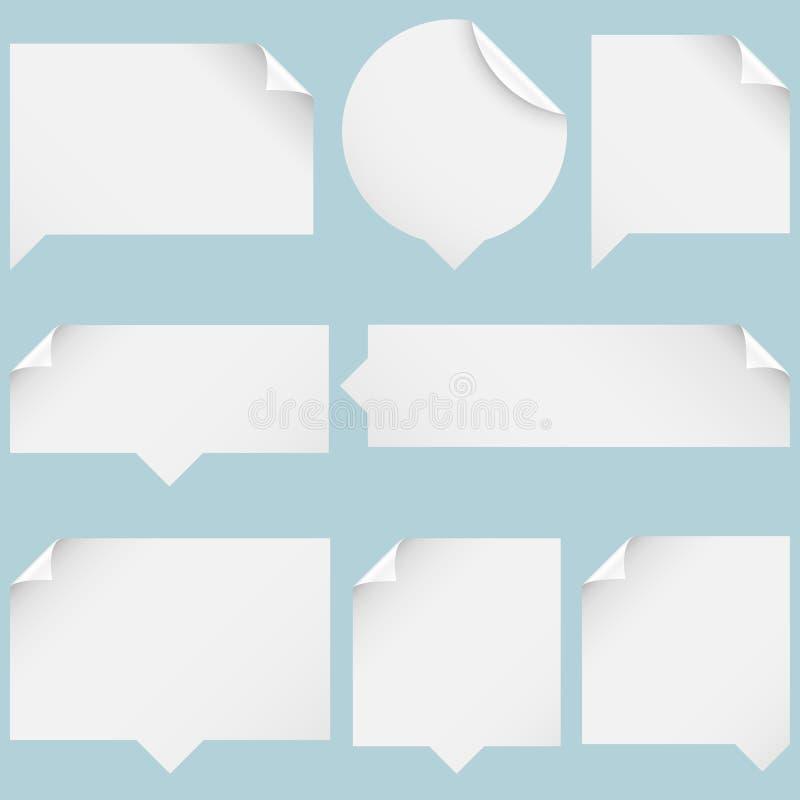 Bolhas de papel do discurso ilustração royalty free