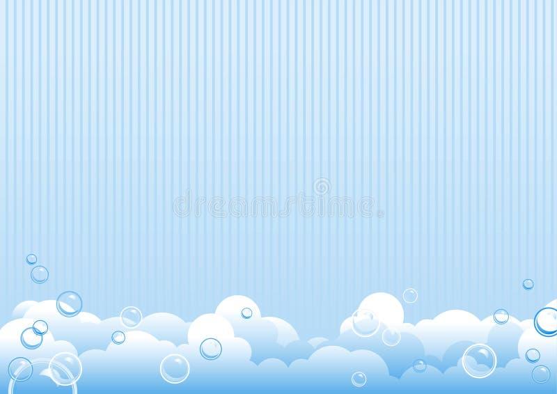 Bolhas de sabão ilustração stock