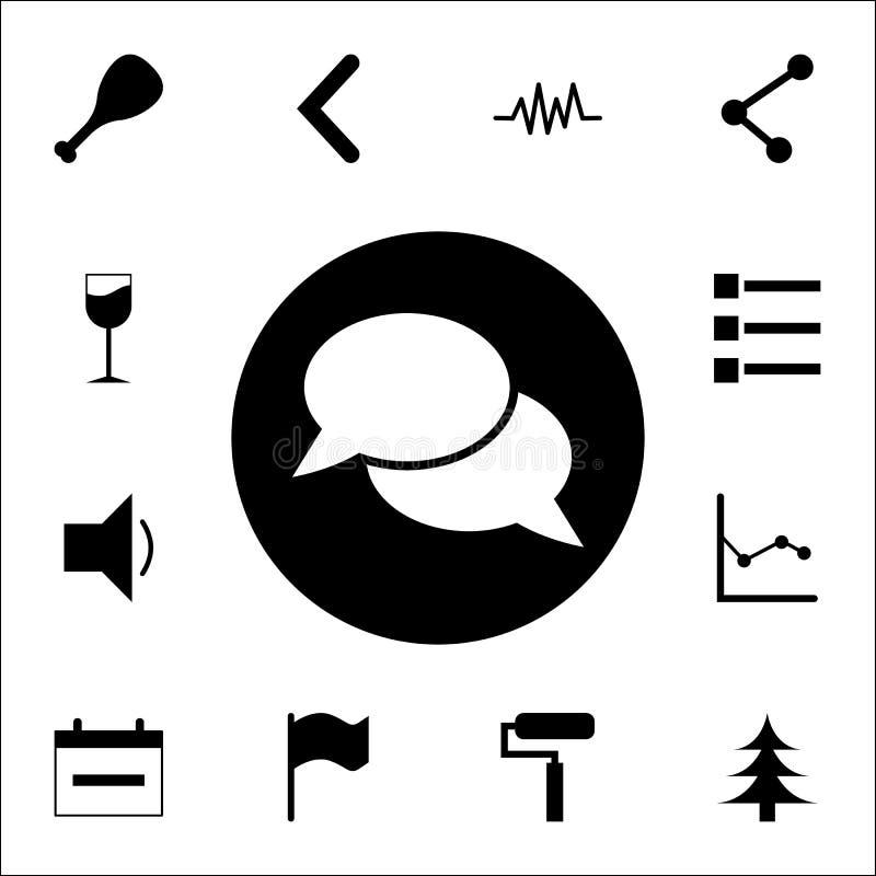 bolhas de uma comunicação em um ícone do círculo grupo universal dos ícones da Web para a Web e o móbil ilustração stock