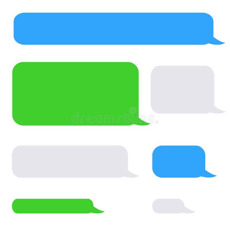 Bolhas do bate-papo dos sms do telefone do fundo ilustração royalty free