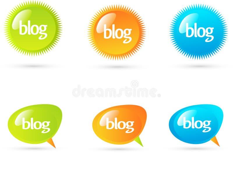 Bolhas do bate-papo ou do blogue. ilustração royalty free