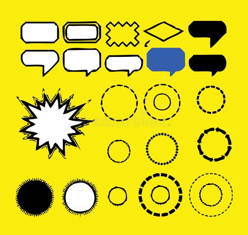 Bolhas do Callout-Discurso   ilustração do vetor