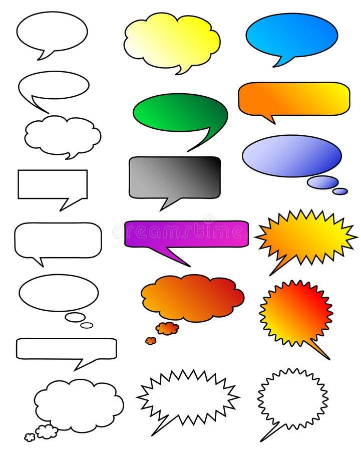 Bolhas do diálogo ilustração royalty free