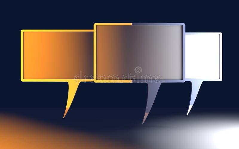 Bolhas do discurso ilustração do vetor