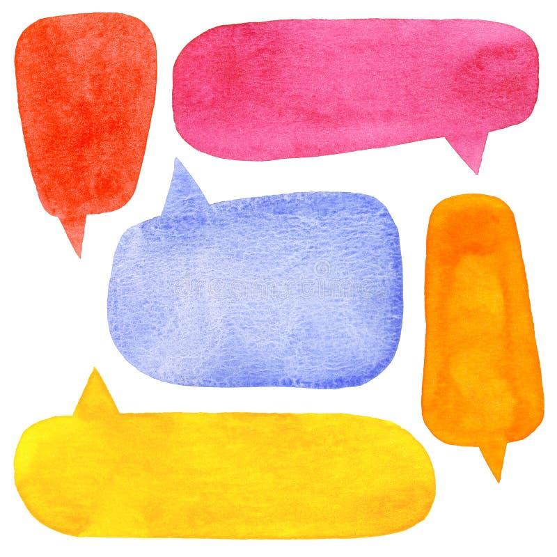 Bolhas do discurso da aquarela ilustração do vetor