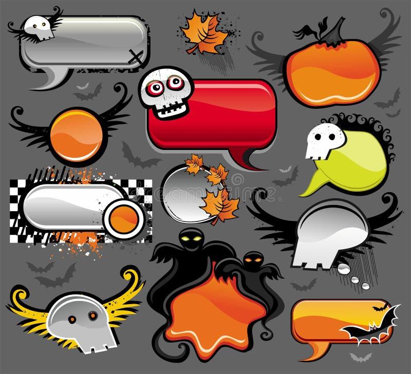 Bolhas do discurso de Halloween