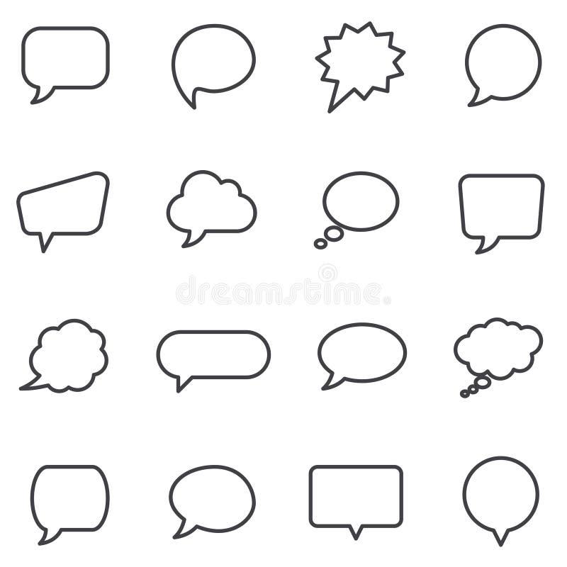 Bolhas do discurso e balões do diálogo ilustração stock