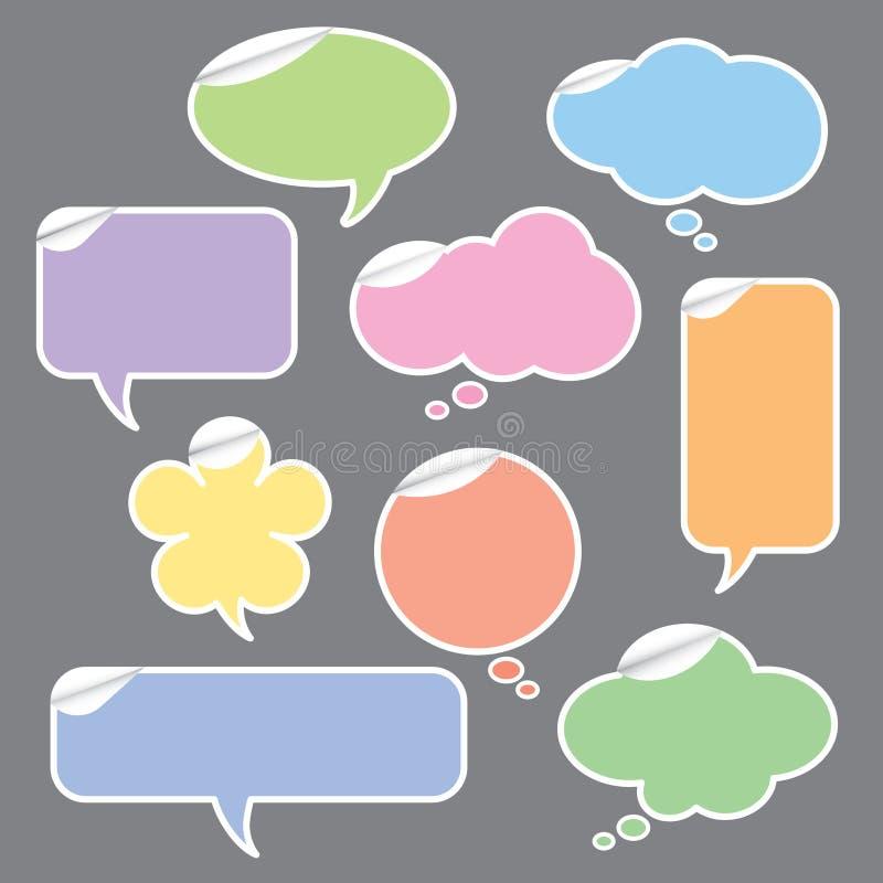 Bolhas do discurso e do pensamento ilustração do vetor