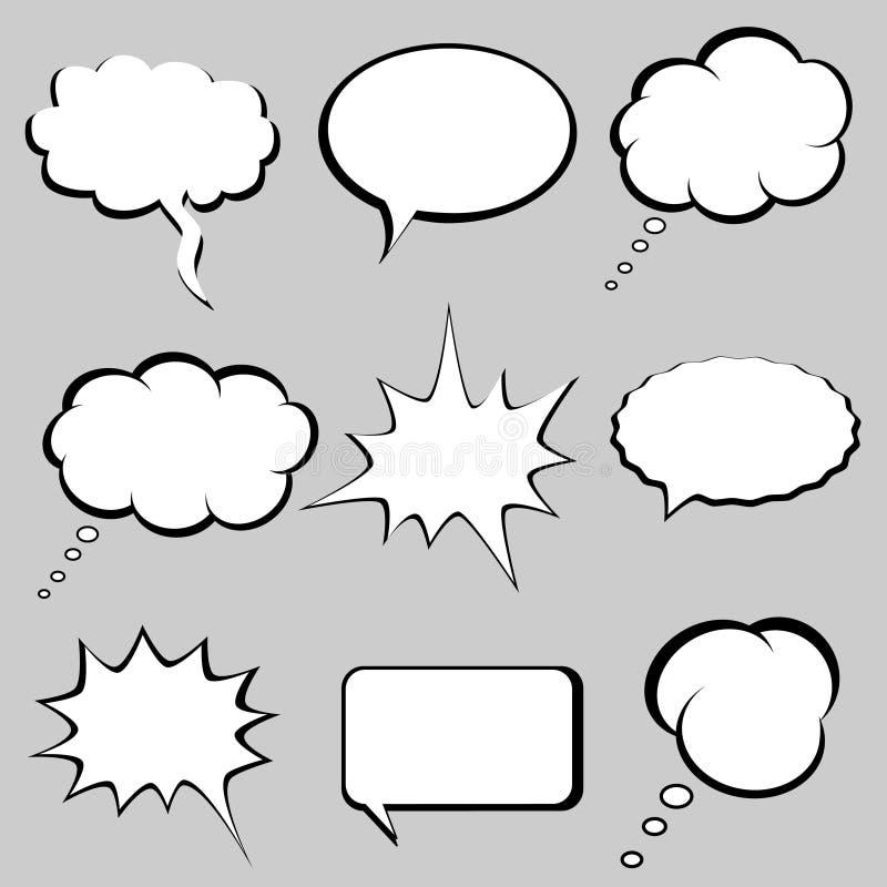 Bolhas do discurso e do pensamento ilustração royalty free