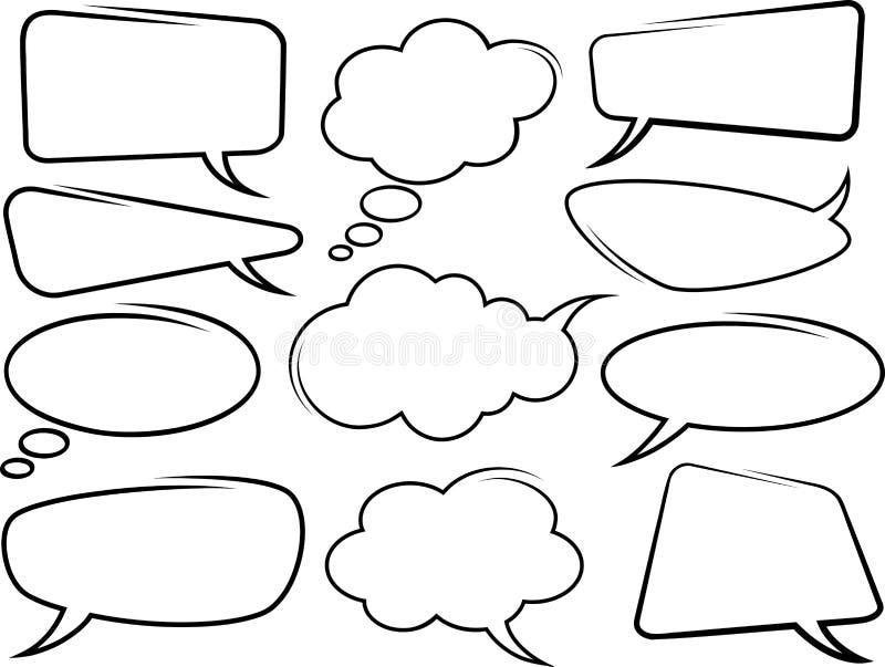 Bolhas do discurso. Vetor ilustração do vetor