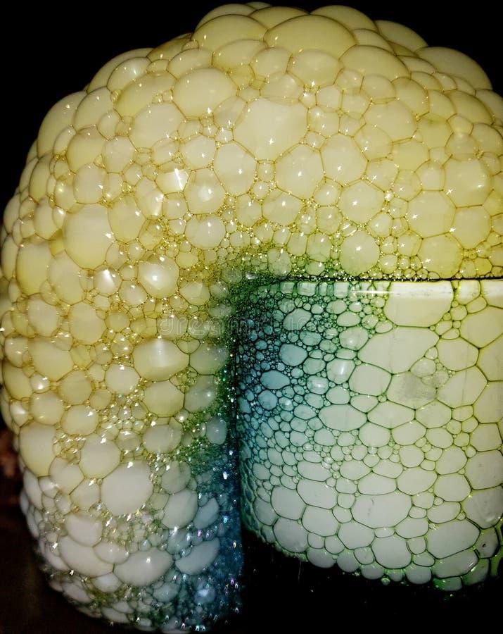 Bolhas do gelo seco da sereia fotos de stock