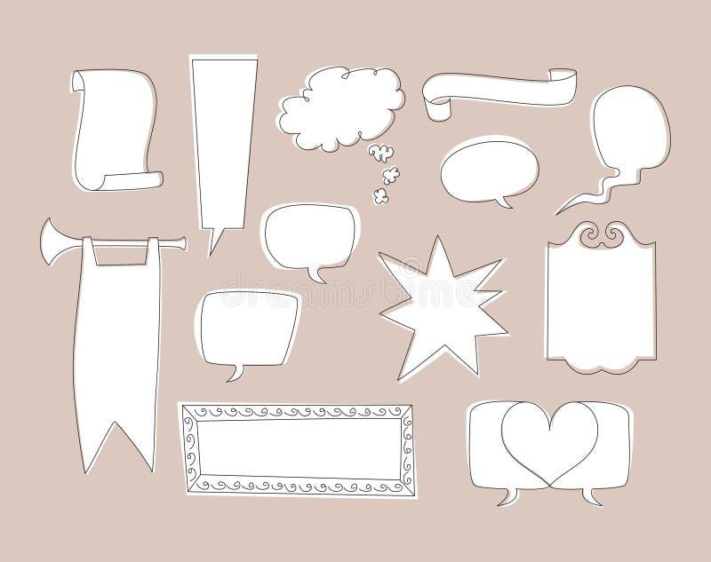 Bolhas Hand-drawn da conversa ilustração royalty free