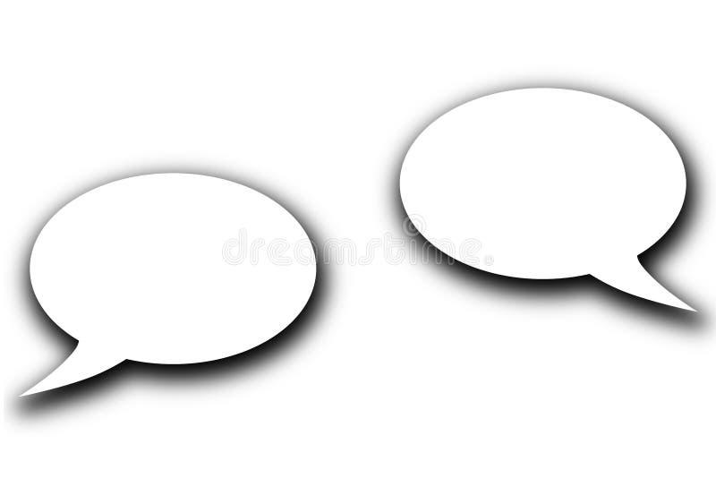 Bolhas materiais do discurso do projeto para uma comunicação ilustração do vetor