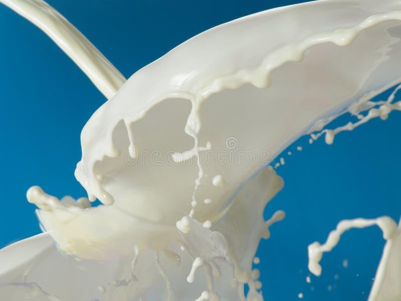Bolhas, ondas do leite imagem de stock