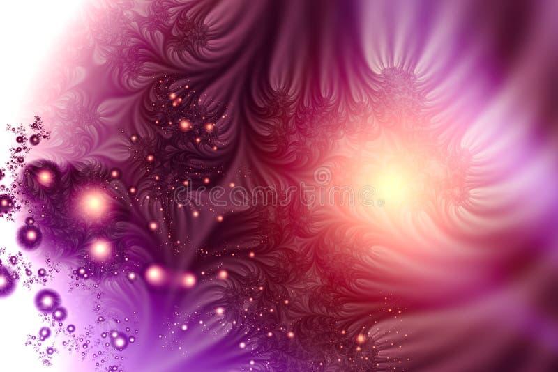Bolhas roxas ilustração royalty free