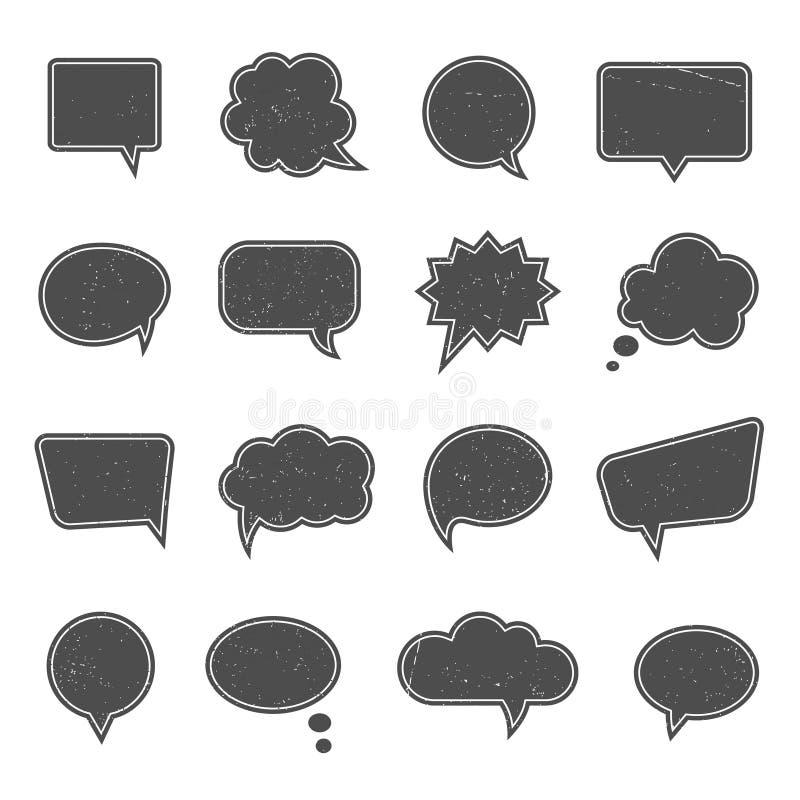 Bolhas vazias do discurso no estilo moderno do vintage ilustração do vetor