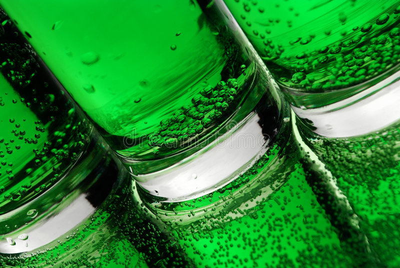 Bolhas verdes imagens de stock royalty free