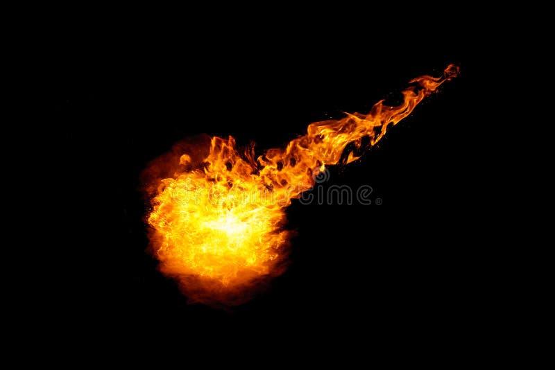 Bolide della meteorite con la treccia ardente illustrazione di stock