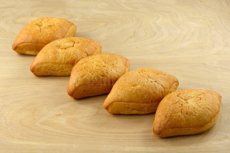 Bolillo białego chleba Meksykańscy bochenki zdjęcia stock