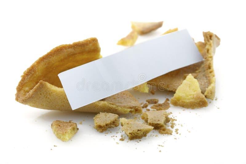 Bolinho de fortuna em branco imagens de stock